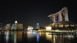 The signature skyline of Singapore