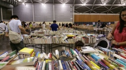 Books on sale at Singapore Exhibition Centre